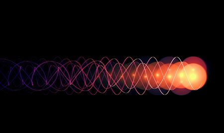 photon: energy impulse on black background - high quality render
