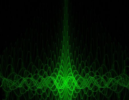 green oscillograph background - high quality render