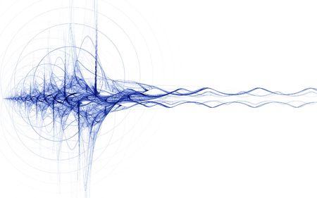 Energie-Impuls-blau auf weißem Hintergrund