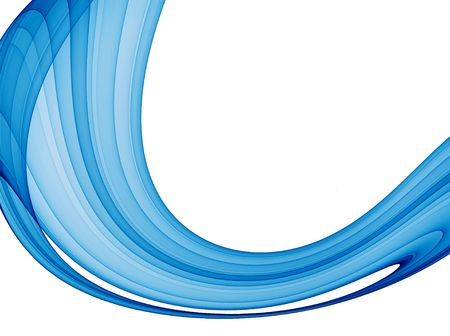 abstract blue wave - high quality rendered image Stock Photo - 802647
