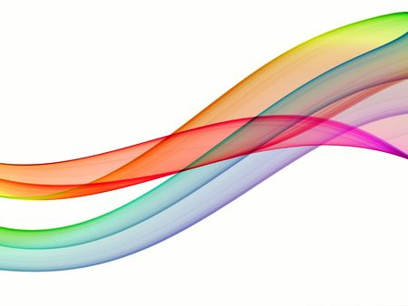 multicolored abstraction on white background, high quality detailed render Stock Photo