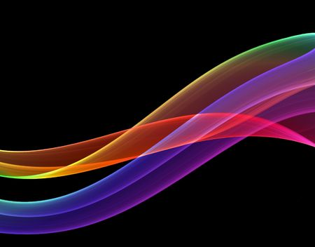 multicolored abstraction on black background, high quality detailed render