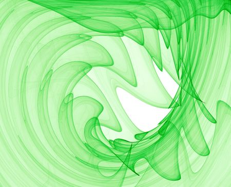 green abstract swirls - high quality computer render Stock Photo - 855246