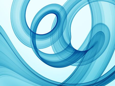 blue swirl theme - high quality rendered abstract background Stock Photo - 1140521