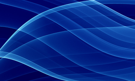 diep blauw thema - computer gegenereerde achtergrond met vloeiende lijnen  Stockfoto