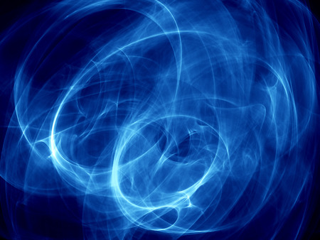 abstract energy formation - deep blue theme. hq render Stock Photo - 1498082