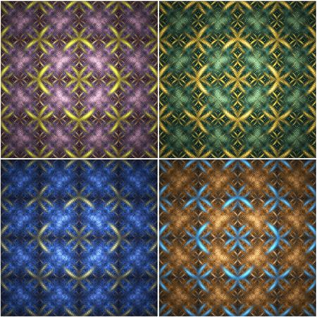 seamless pattern - huge and extremely detailed. makes nice and unique background. 4 different versions. Stock Photo - 1736905
