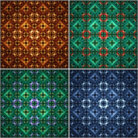 seamless pattern - huge and extremely detailed. makes nice and unique background. 4 different versions. Stock Photo - 1736906