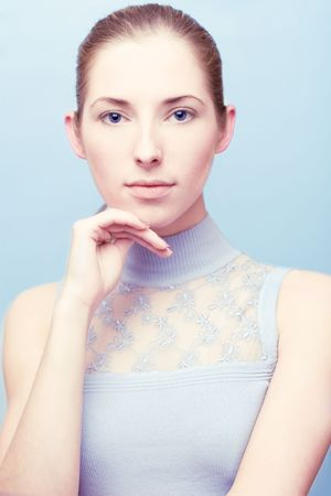portrait of young serene woman looking to the camera Stock Photo - 2186315