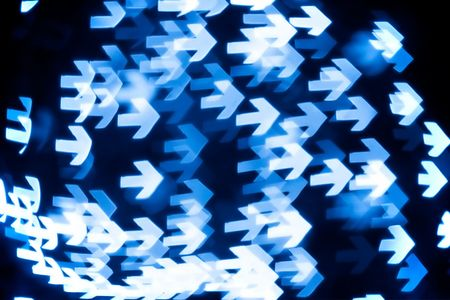 bokeh series - arrows,  blue abstract background Stock Photo - 2241266