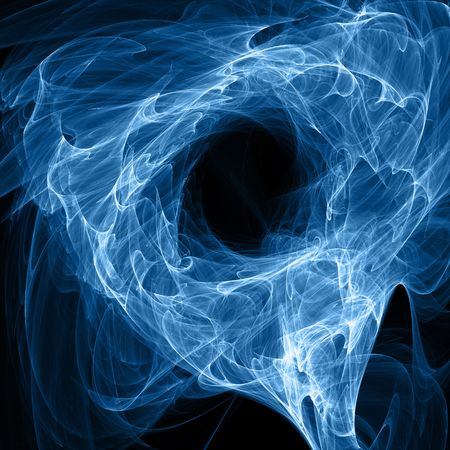fusion: energy abstration over black background - hq render Stock Photo