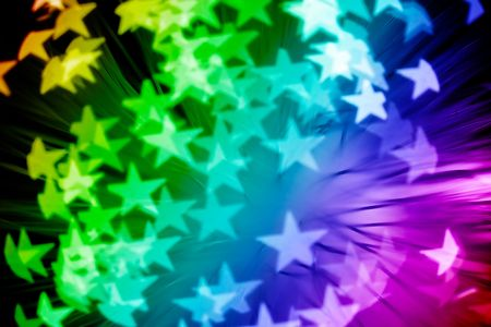multicolored stars - abstract pattern, custom shaped bokeh effect Stock Photo - 6115969