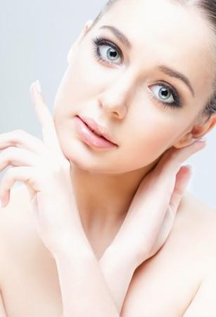 close-up studio portrait of young beautiful woman Stock Photo - 7741623