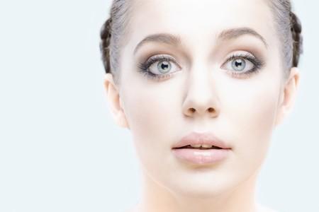 close-up studio portrait of young beautiful woman Stock Photo - 7741622