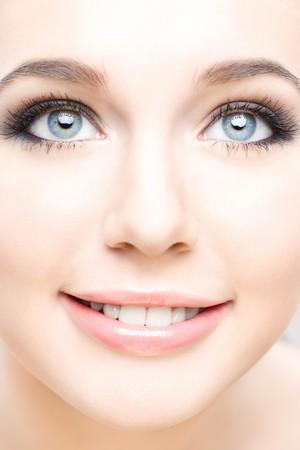 close-up studio portrait of young beautiful woman Stock Photo - 8093659