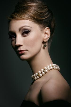 classy woman: classic portrait Stock Photo