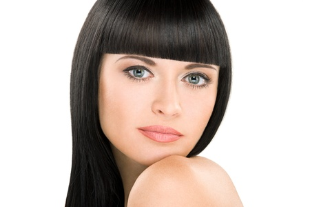 close-up beauty portrait of young caucasian woman with perfect haircut Stock Photo - 11972922
