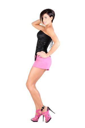 young model in sexy outfit Stock Photo