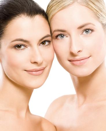 두 젊은 아름 다운 여자 스톡 콘텐츠 - 12328158