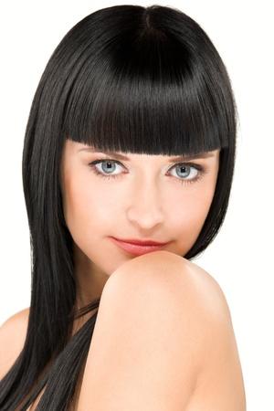 fringe: close-up beauty Stock Photo