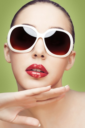 young woman wearing sunglasses Stock Photo - 13345128