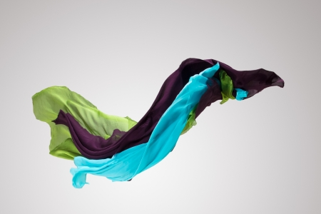levitating: abstract fabric in motion