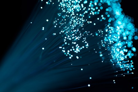 optics: fiber optics close-up, communication background