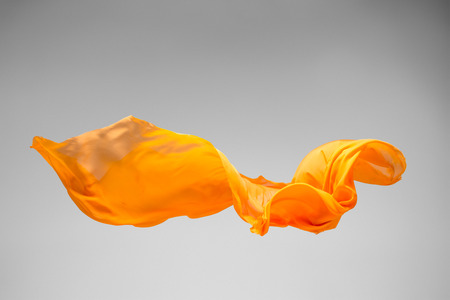 flying object: flying fabric - high speed studio shot, art object, design element