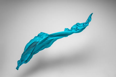 silk fabric: la tela del vuelo - alta estudio tiro velocidad, objeto de arte, elemento de diseño Foto de archivo