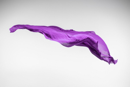 abstract piece of purple fabric flying, art object, design element Stock fotó