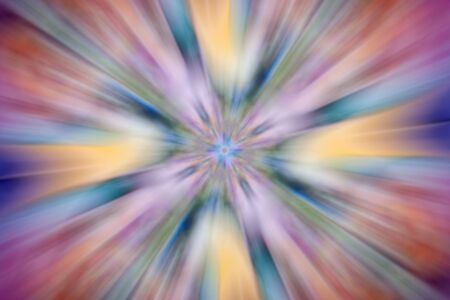 abstract multicolored vibrant symmetric blurred background, speed zoom effect