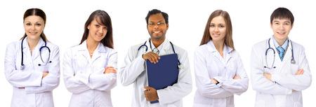 Portrait einer Gruppe von lächelnden Krankenhaus Kollegen zusammen stehen Standard-Bild - 23261306