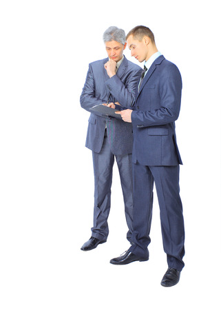 conclude: Two businessmen conclude a deal. Stock Photo