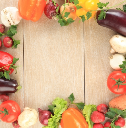 Colorful vegetable frame photo