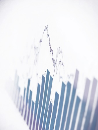 financial report: 3d Render Stock Market Graph With Going Up Arrow Stock Photo