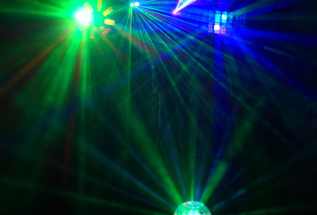 dance club: Disco. Laser show.
