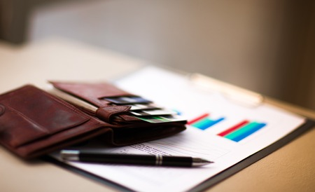 discount: leather wallet with credit and discount cards