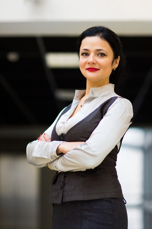 cross armed: Portrait of a business woman on a good working day