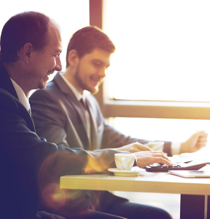 men working: Business team working together to achieve better results