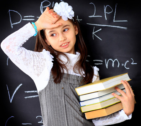 equations: The little girl decides to mathematical equations.