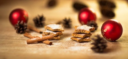 gingerbread cookies: Christmas homemade gingerbread cookies,spice and decoration Stock Photo