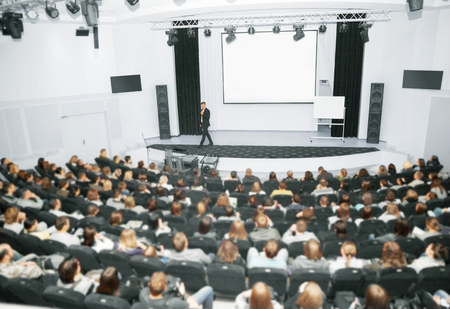 Business presentation or lecture Standard-Bild