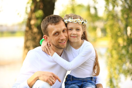 portrait of dad and daughter