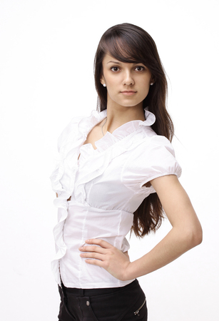 closeup. portrait of a confident young woman. Stock Photo