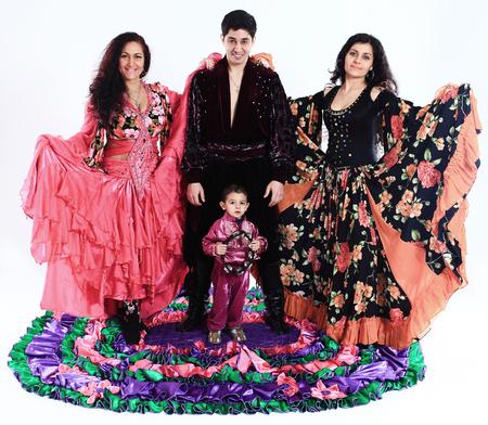 kleine zigeunerjongen - danser en dansgroep in klederdracht Gypsy Stockfoto
