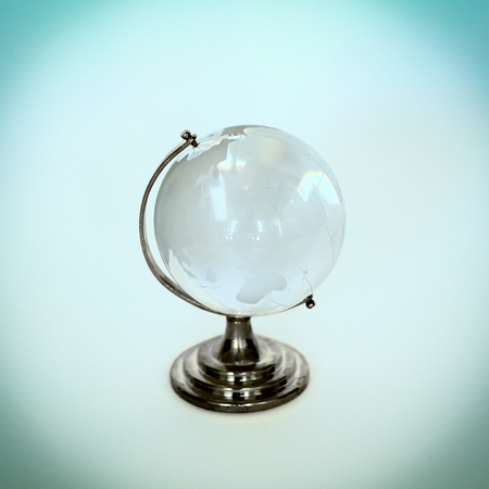 glass globe.isolated on a white background