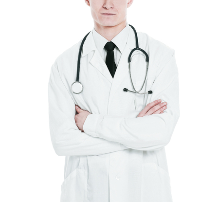 portrait of a practicing therapist.isolated on a white