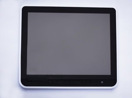 black tablet pc isolated on white with clipping path