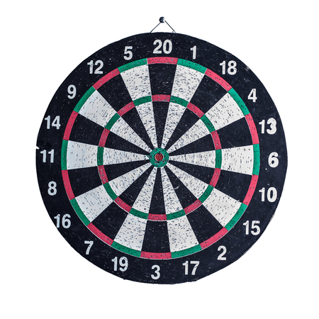 closeup.Darts Board isolated on white background