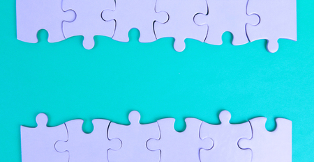 The frame of the puzzle for your text. Stock Photo
